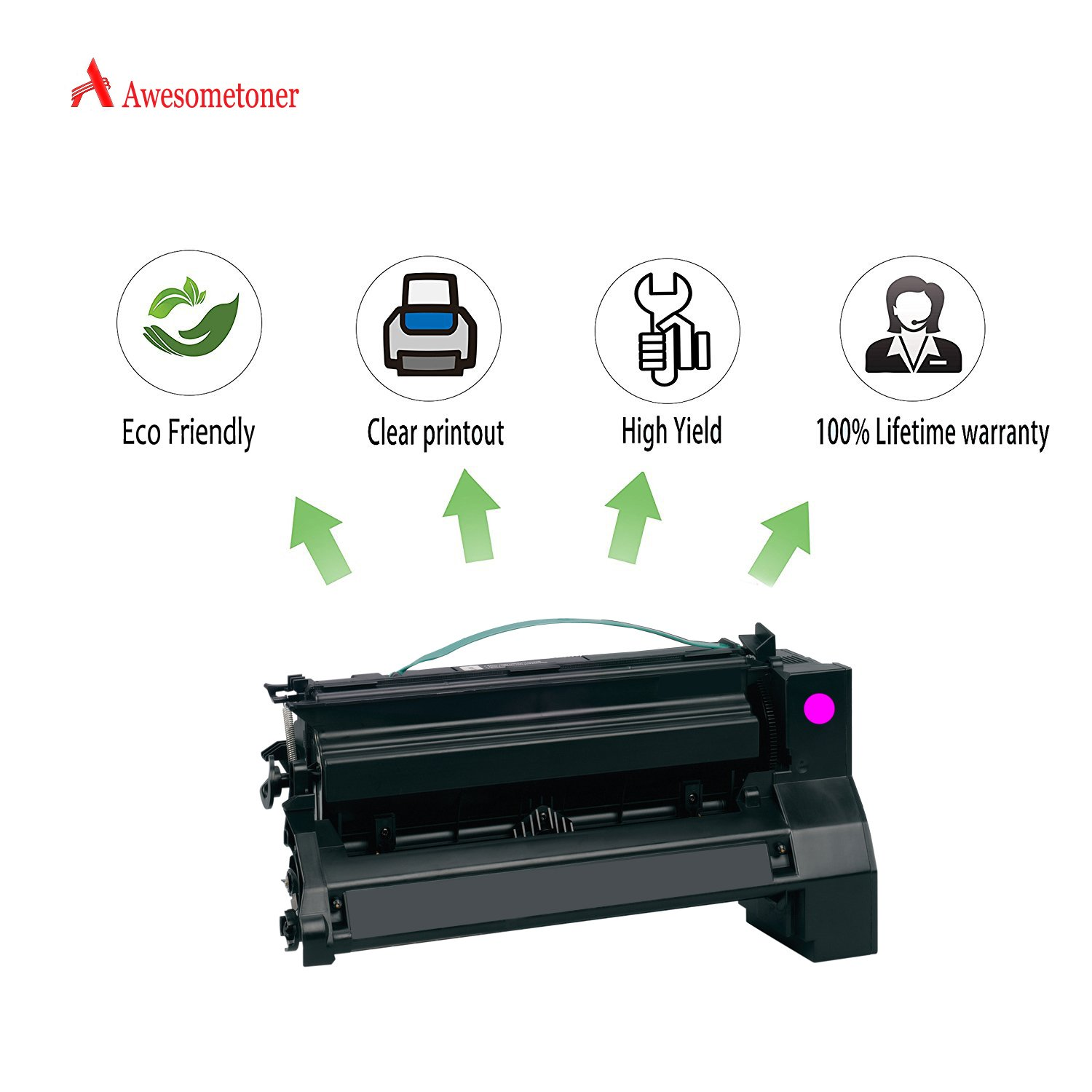 Amazon.com: Awesometoner Remanufactured 1 Pack C7700MH C770 Toner Made in  USA For Lexmark C770DN C770DTN C770N C772DN High Yield 10000 Pages: Office  ...