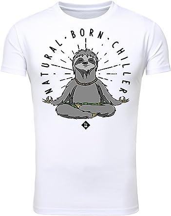 T-Shirt Camisa Hombres Imprimir Impreso Pie de Imprenta Presión Adorno Cuello Redondo Manga Corta Blanco XXL: Amazon.es: Ropa y accesorios