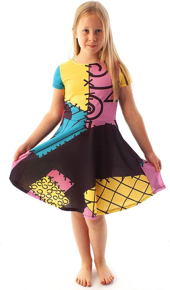 The Nightmare Before Christmas Jack Sally Girls Custom Dress Sizes 2-7 Years