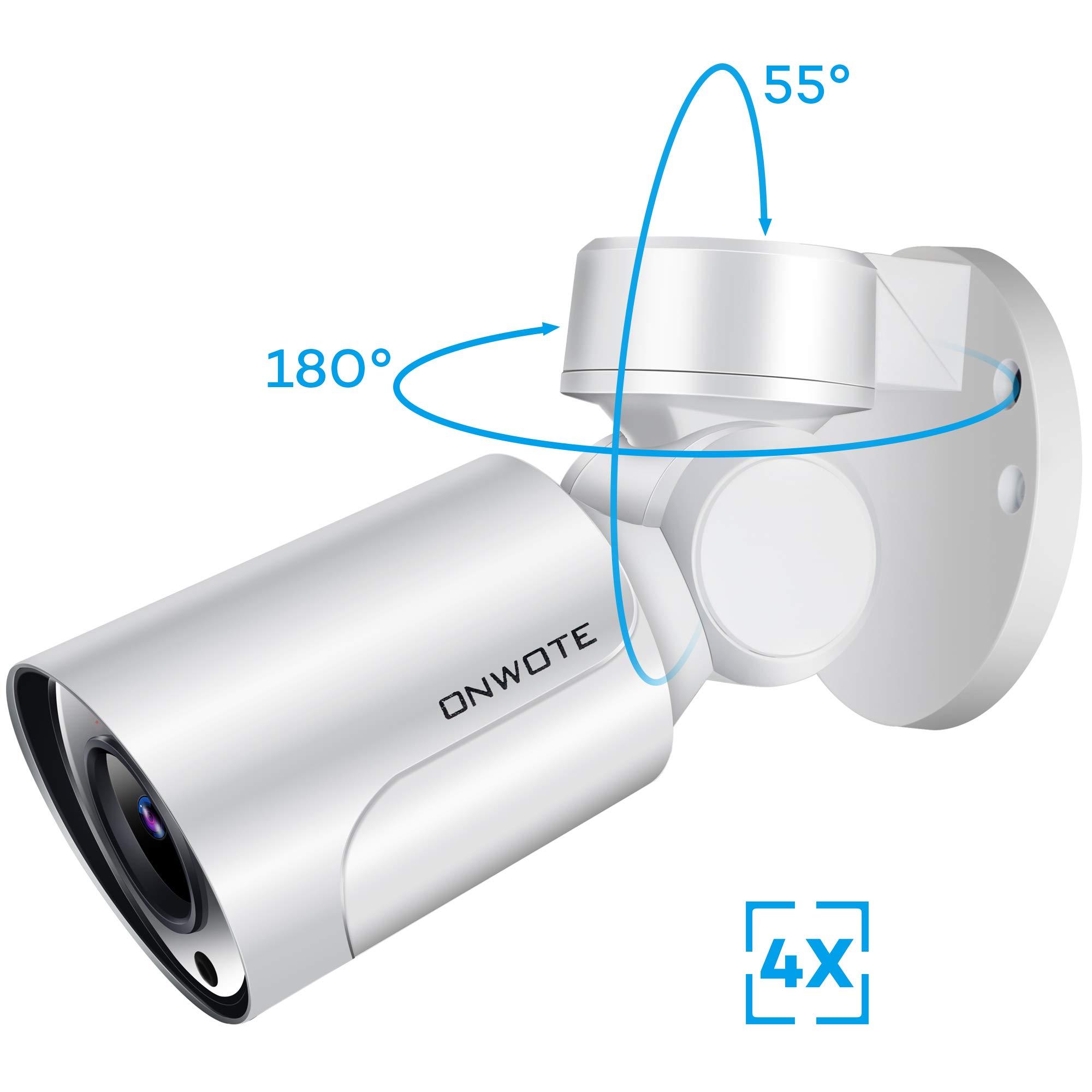 ONWOTE 5MP HD Outdoor IP PTZ PoE Security Camera with Audio, 2592x1944P Super HD, 180° Pan 55° Tilt 4X Optical Zoom Autofocus, Onvif Ethernet Camera, 2.8-12mm Lens, IP65 Waterproof