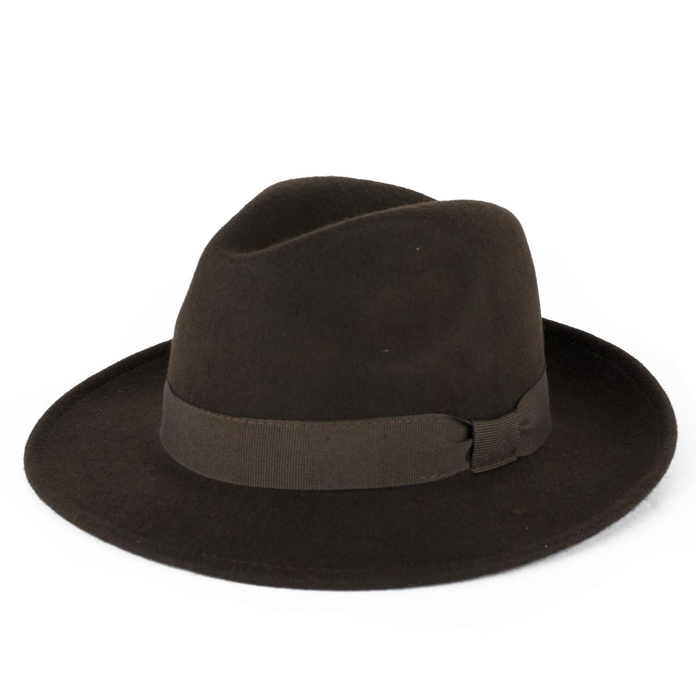 Mens Ladies 100% Wool Handmade In Italy Waterproof Trilby Fedora Hat d2d d2d 9324