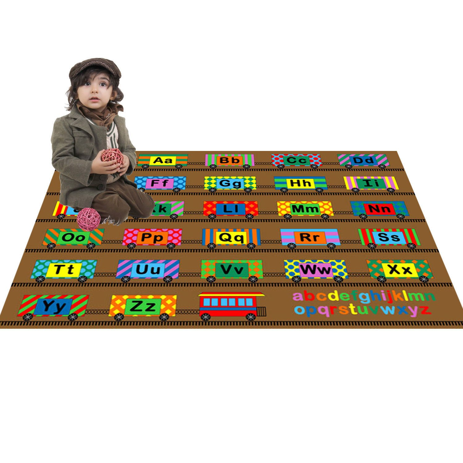 Amazon.com: Large Classroom Rugs for Kids ABC Train Fun Area Rug 4ft x 6ft  New Design # 4 Manufacturer's Suggested Retail Price $149.99: Kitchen &  Dining
