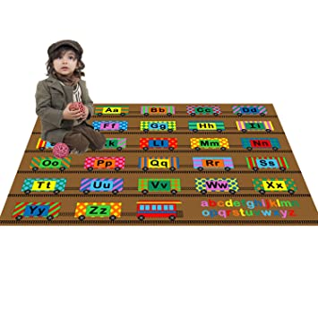 large classroom rugs for kids abc train fun area rug 4ft x 6ft new design