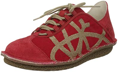63eac38dd Po-Zu Women s Brisk Red Lace Ups Trainers 5060291560367 3 UK