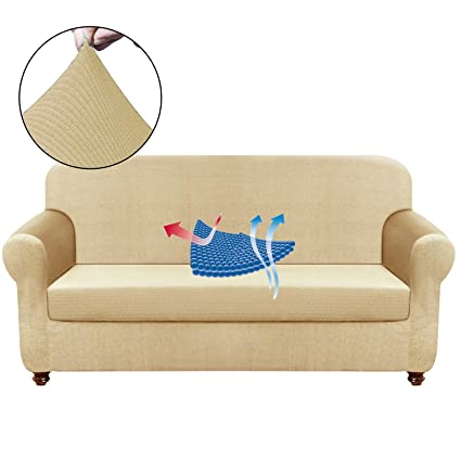 Surprising Chelzen Stretch Sofa Covers Living Room 2 Piece Extra Large Couch Covers Striped Furniture Protectors Spandex Fabric Dog Sofa Slipcovers Xl Sofa Machost Co Dining Chair Design Ideas Machostcouk