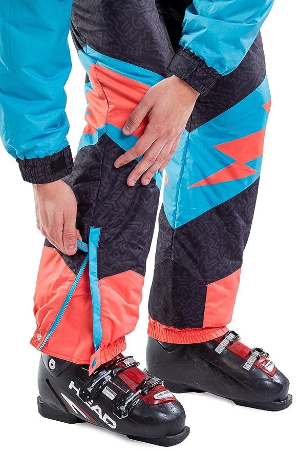 Amazon.com: Traje de esquí para hombre, con pernos de ...