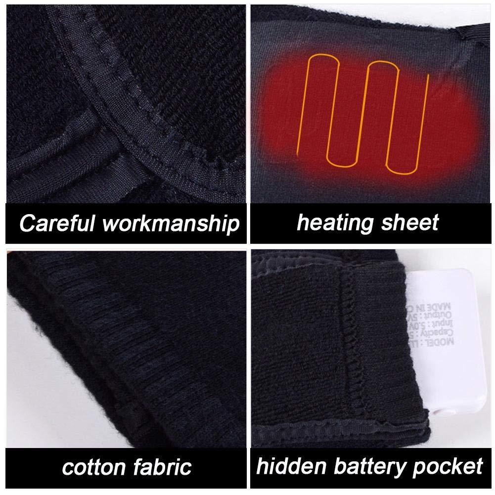 Hutiee Calcetines térmicos, Calcetines térmicos par batería Recargable USB calcetín isotérmica eléctrico Infrarrojos, Calentador para Tortillas pies: ...