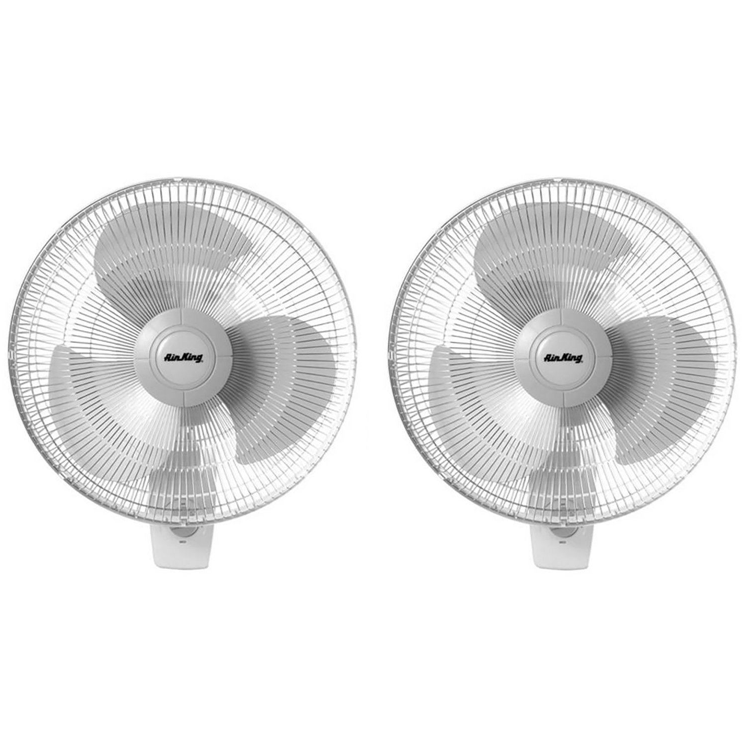 Air King 12'' Blade 3-Speed 1/50 HP Motor Oscillating Wall-Mount Fan (2 Pack)