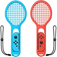 Tennis Racket for Nintendo Switch Joy-Con Controller,Accessories for Nintendo Switch Game Mario Tennis Aces Blue and Red…