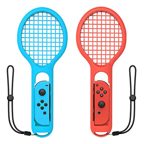 Tennis Racket for Nintendo Switch Joy-Con Controller,Accessories for  Nintendo Switch Game Mario Tennis Aces Blue and Red - Only Use for Swing  Mode on