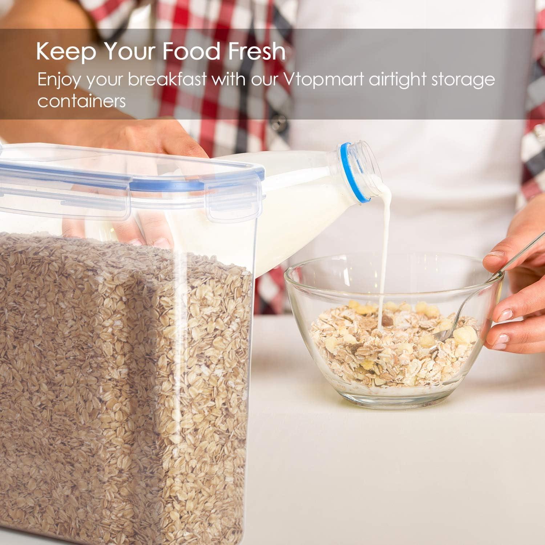 Rose 24 bo/îtes de Conservation de Nourriture en Plastique avec Couvercle herm/étique sans BPA 1,6L Vtopmart Lot de 9