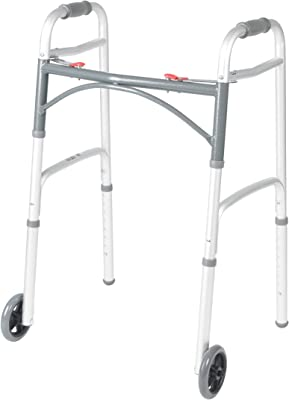 Drive Medical Deluxe Two Button Folding Walker