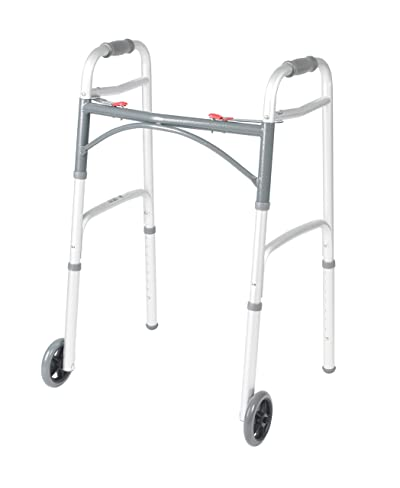 Drive Medical 10210-1 Deluxe Two Button Folding Walker