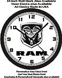 DODGE RAM TRUCK EMBLEM WALL CLOCK-FREE USA SHIP!