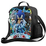 XALER Sonic-The-Hedgehog Lunch Tote Bag for Men Women, Reusable Insulated Cooler Bag for Kids, Thermal Lunch Box for…