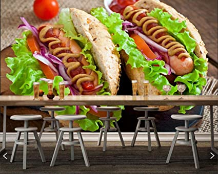Wallpaper Fast Food Hot Dog Vegetables Tomatoes Food