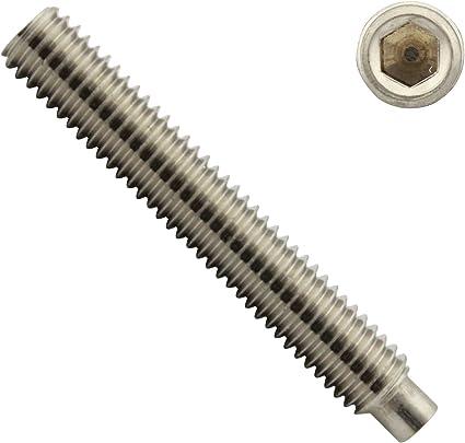 - SC915 M3 x 8 mm - - Madenschrauben ISO 4028 Gewindestifte mit Innensechskant und Zapfen DIN 915 SC-Normteile - aus rostfreiem Edelstahl A2 V2A 50 St/ück