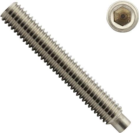 Gewindestifte mit Innensechskant und Zapfen - Madenschrauben SC-Normteile V2A - aus rostfreiem Edelstahl A2 10 St/ück ISO 4028 M8 x 10 mm - DIN 915 - SC915