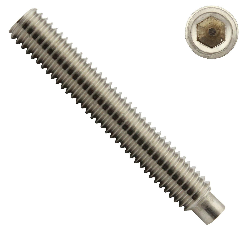 V2A M4 x 20 mm - - Madenschrauben - aus rostfreiem Edelstahl A2 Gewindestifte mit Innensechskant und Zapfen DIN 915 25 St/ück - SC915 SC-Normteile ISO 4028