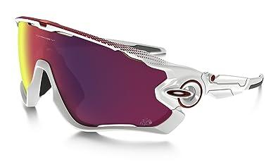 acd82a6ef1 Oakley Men's Jawbreaker 929018 Sunglasses, White (Polished White), 1 ...