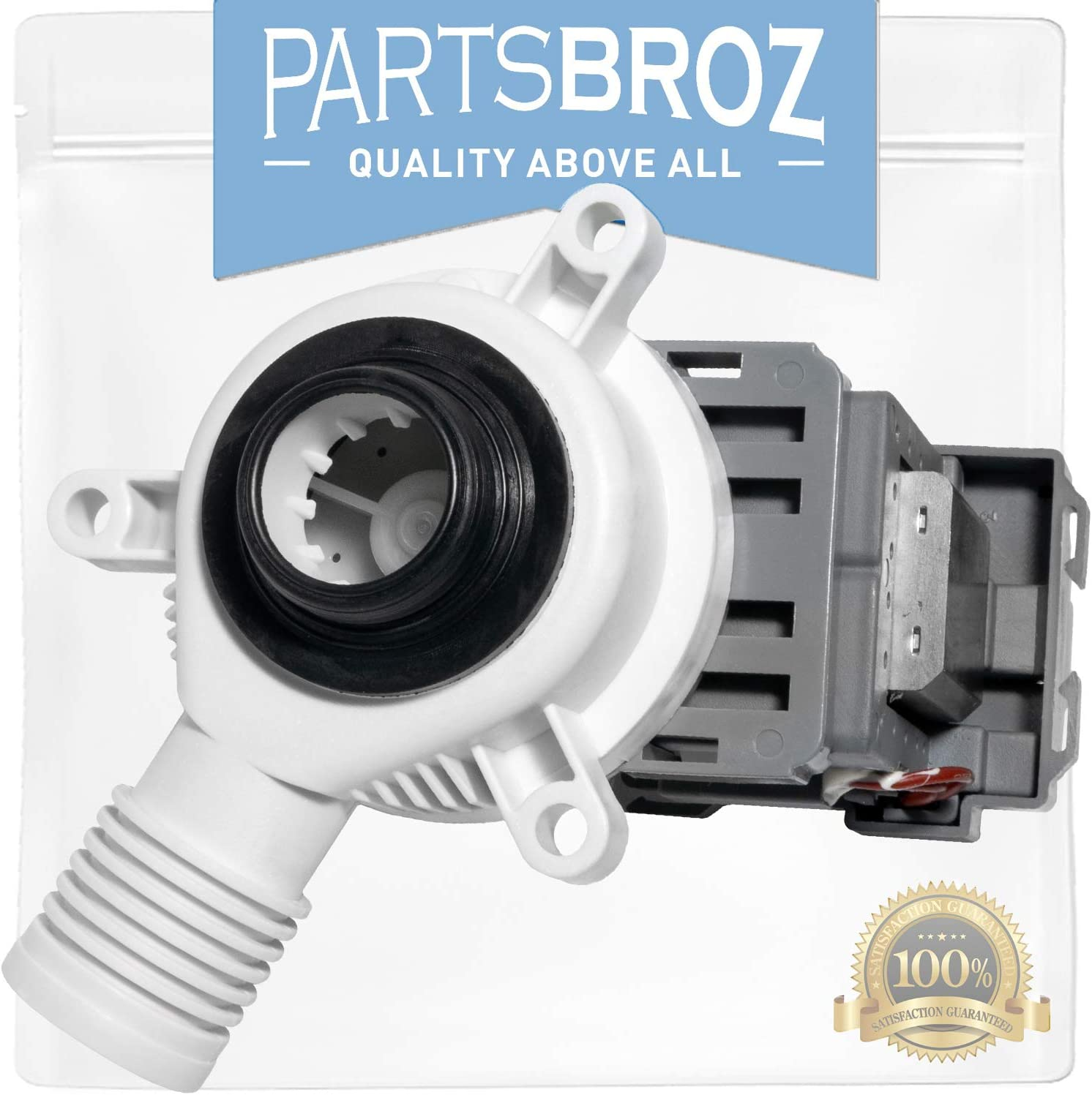 W10276397 Drain Pump by PartsBroz - Compatible with Whirlpool Washing Machines - Replaces WPW10276397, AP6018417, PS11751719, WPW10276397VP