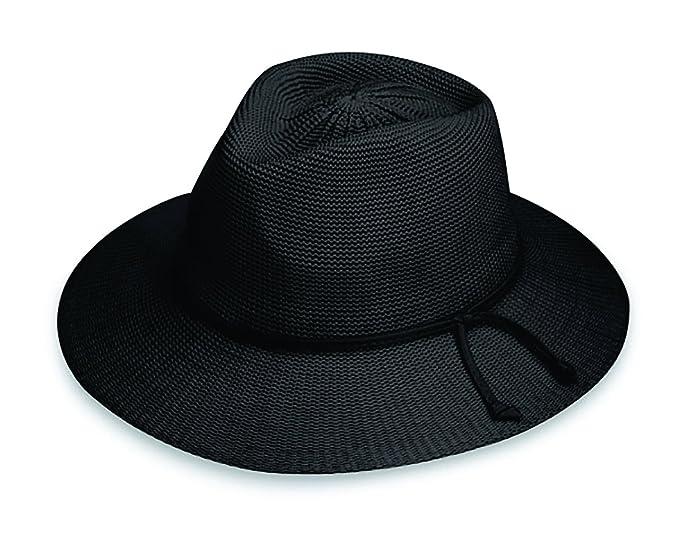 Wallaroo Hat Company Women s Victoria Fedora Sun Hat - Black - UPF ... f8b2512bb6a9