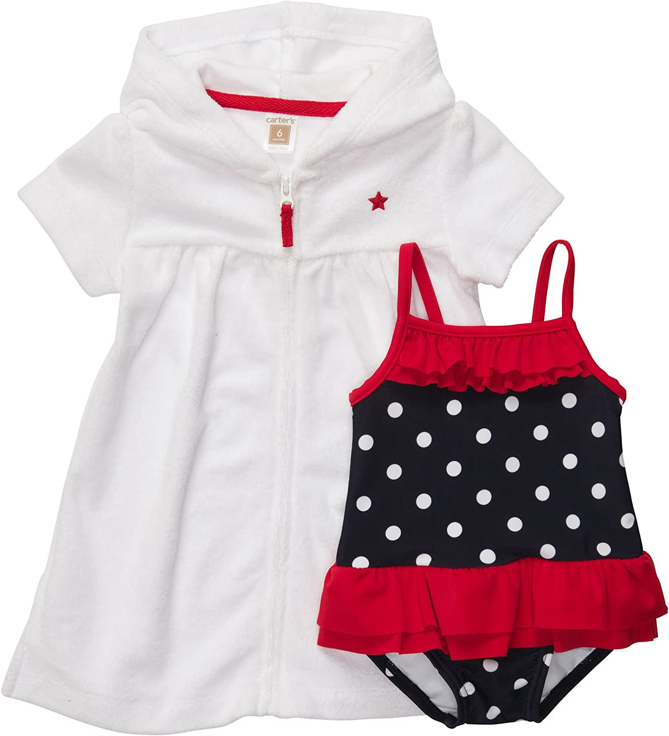 Carters Baby Girls 2-piece Swimsuit /& Cover up Set