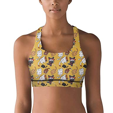 Amazon.com: Sujetador deportivo para mujer, color amarillo ...