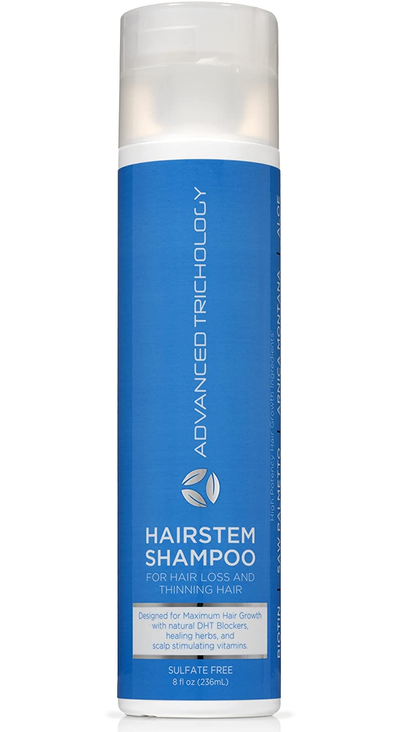 HairStem DHT Blocking Hair Growth Shampoo for Men and Women with DHT Blockers, Biotin, Saw Palmetto by Advanced Trichology
