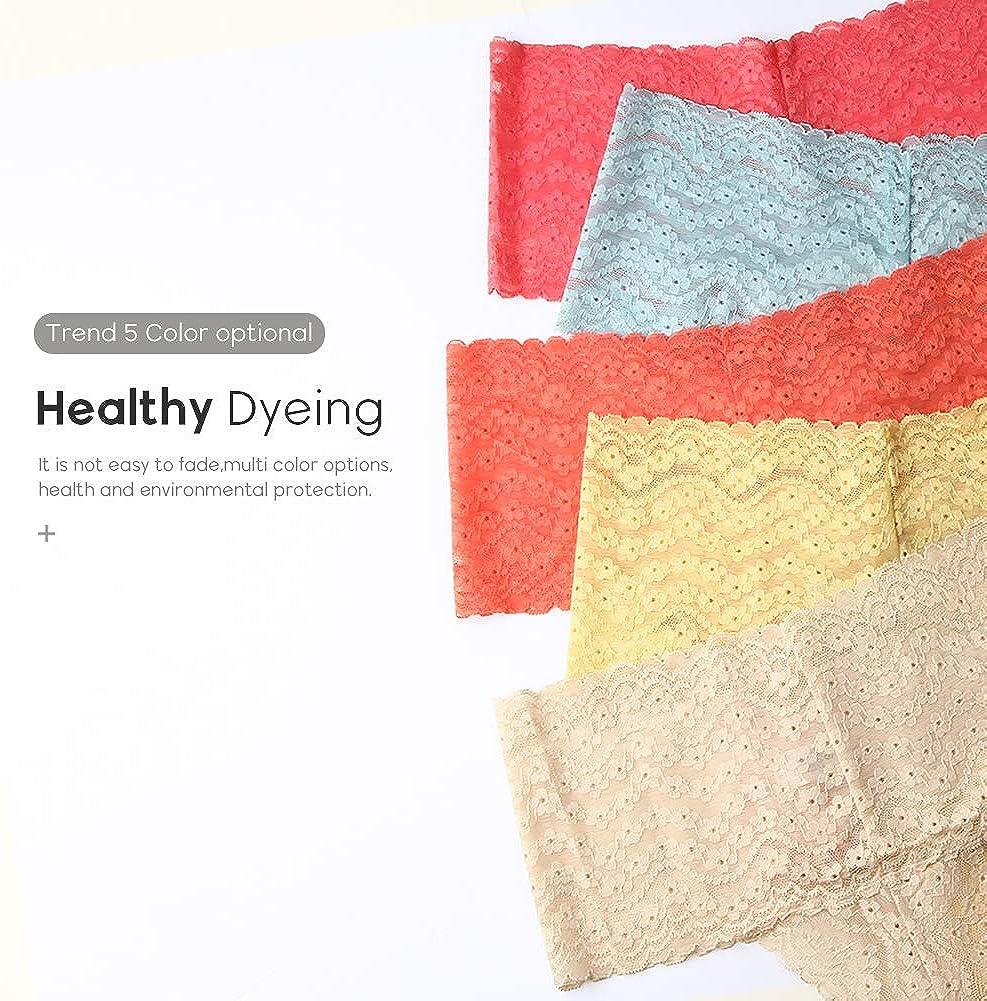 Natural Feelings Underwear for Women High Waist Thongs Seamless Lace Panties
