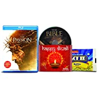 The Passion of the Christ - 1 Movie, 2 Cuts - Theatrical & Recut Versions + The Bible - 2 English Movies (2 Blu-ray bundle offer)