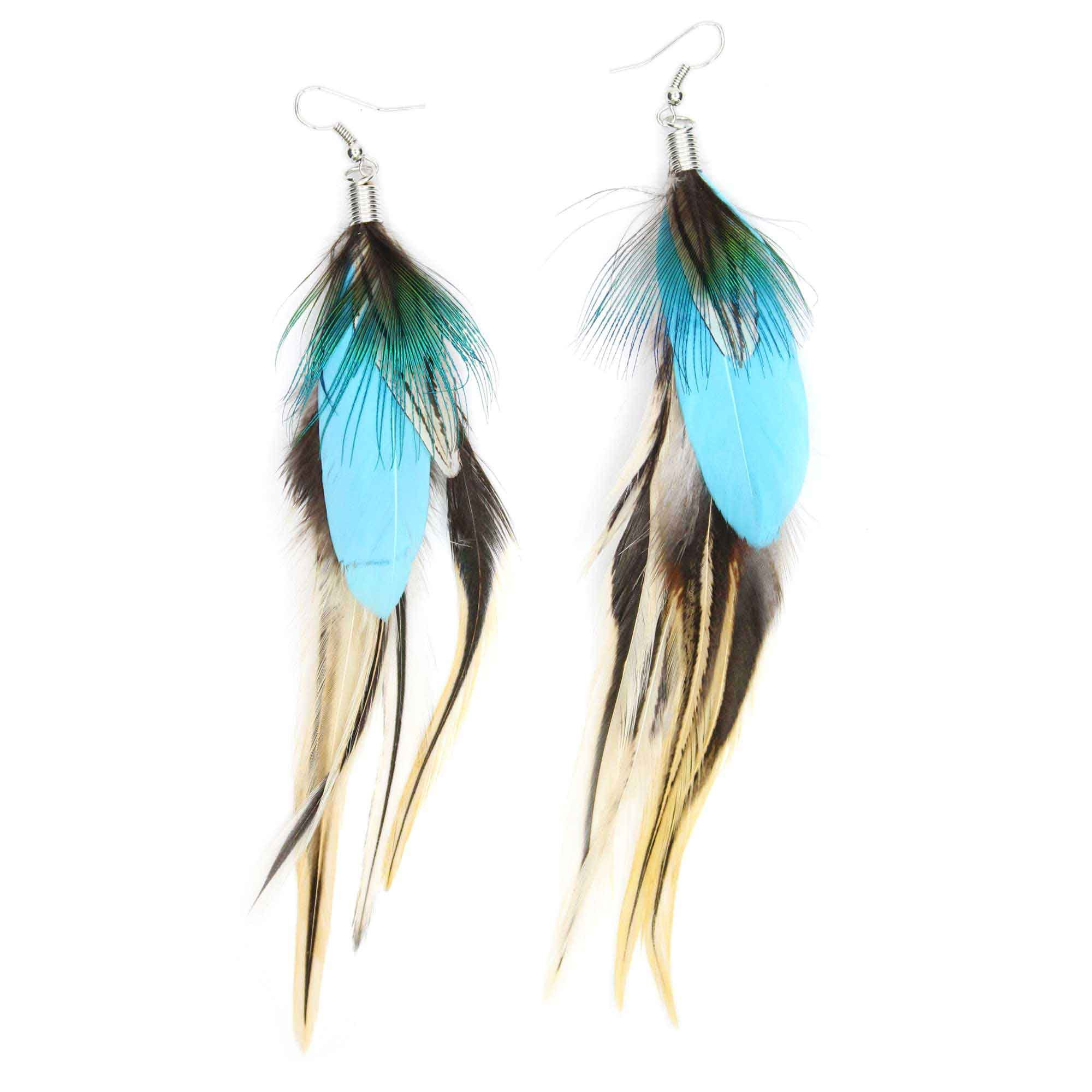 Feather Jewelry: Amazon.com: Mia Feather Earrings, Red, 1 Ounce: Beauty