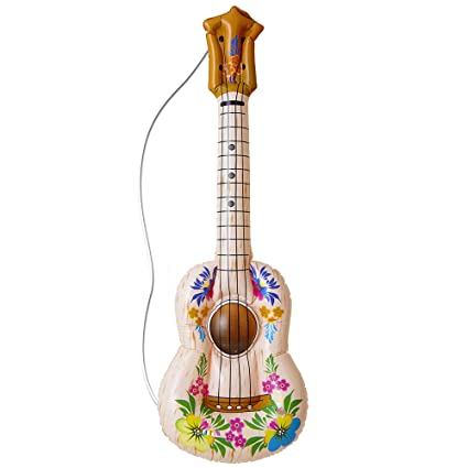 Amazon.com: Inflable Hula Guitarra 105 cm inflable Accesorio ...