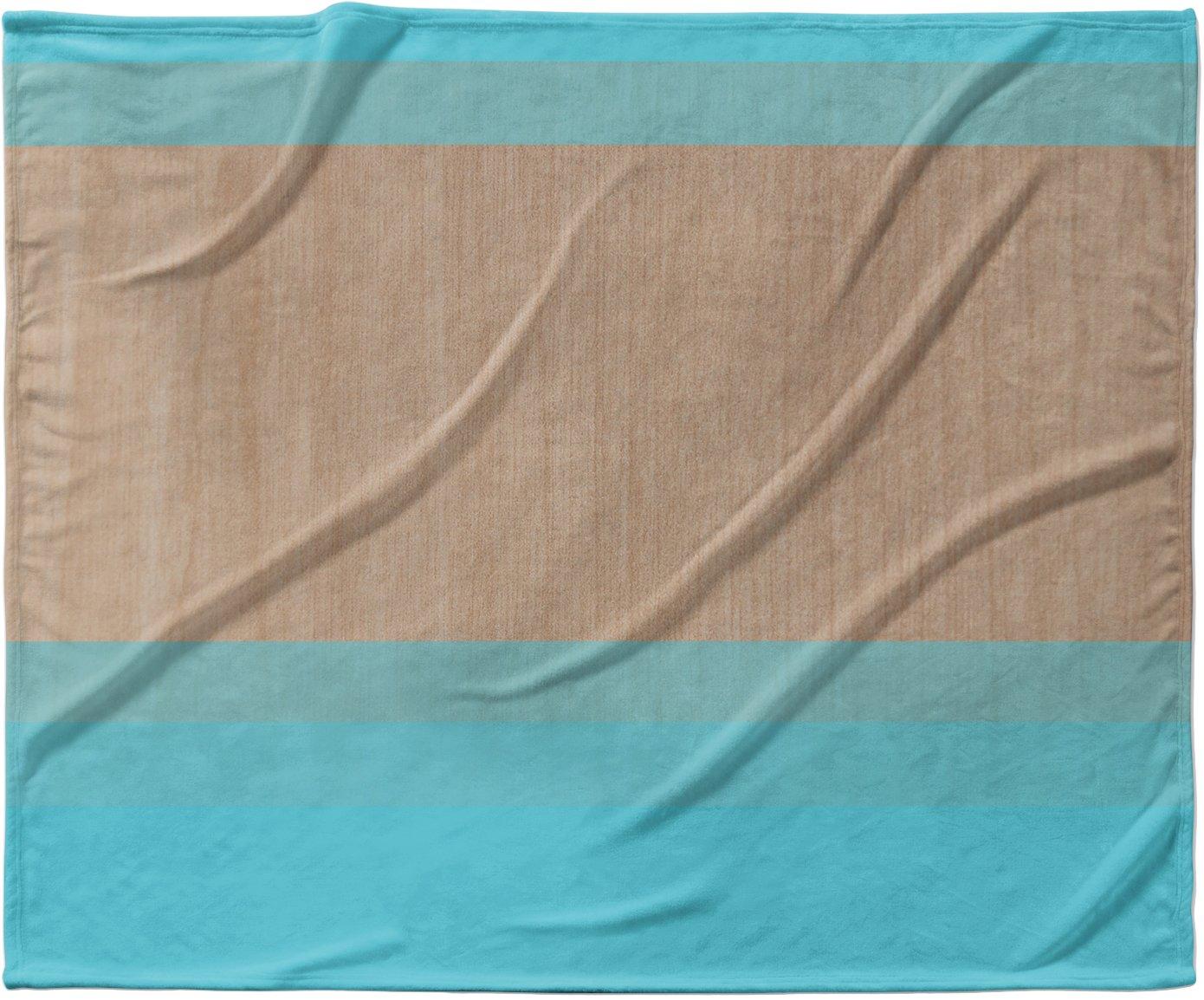 KESS InHouse Brittany Guarino ''Art Blue'' Aqua Wood Fleece Baby Blanket, 40'' x 30''