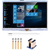 kuman 5 inch Resistive Touch Screen 800x480 HDMI TFT LCD Display Module with Touch Panel USB Port and Touch Pen for…