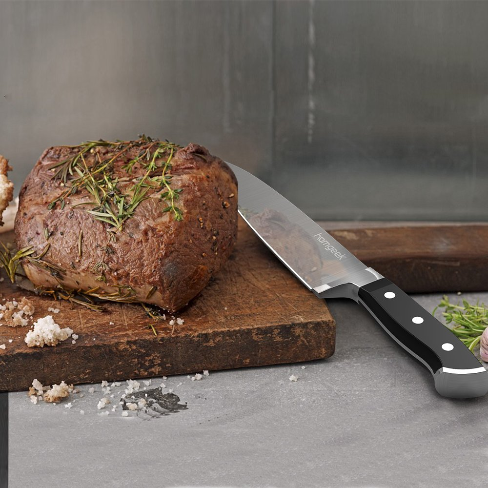71Ckb3R994L. SL1000  Homgeek Chef Knife, coltello da cucina tedesco in acciaio con lama da 20 cm