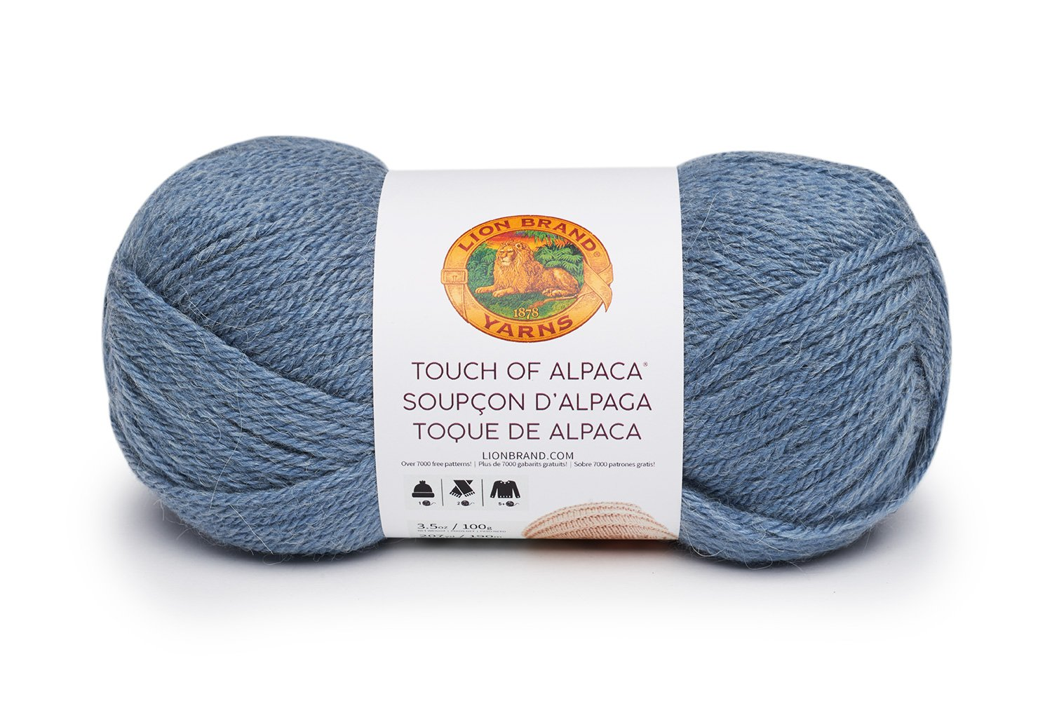 Lion Brand Yarn 124-108 Touch of Alpaca Bonus Bundle, Dusty Blue Lion Brand Yarn Company
