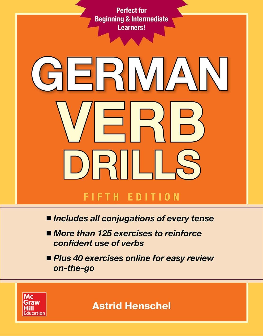 German verb drills fifth edition amazon co uk astrid henschel 9781260010602 books