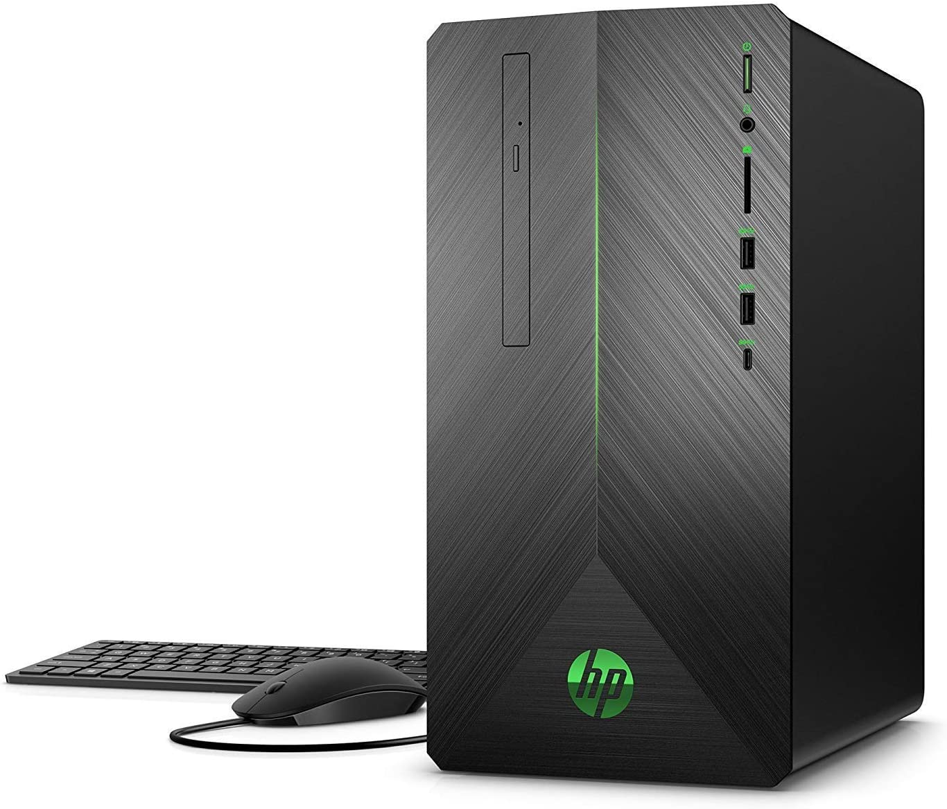 2019 Flagship HP Pavilion Virtual Reality Ready Gaming Desktop Computer High Performance, AMD Quad-Core Ryzen 5 2400G 16GB DDR4 128GB SSD 1TB 7200rpm HDD 4GB AMD Radeon RX 580 DVD WiFi BT 4.2 Win 10