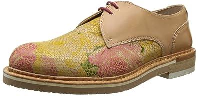 Neosens Derby Chaussures Fantasy floral Jaune Albilla Femme S924 rFxrwqO