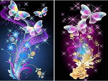 DIY 5D painting butterfly Beauty Cross Stitch Kit Diamond Embroidery Home Decor