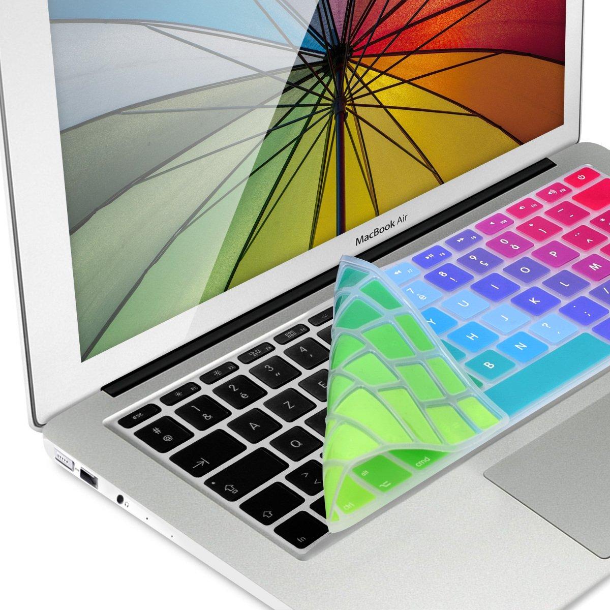 kwmobile Protection pour Clavier en Silicone AZERTY (France, Belgique) pour Apple MacBook Air 13''/ Pro Retina 13''/ 15'' (à mi 2016) Bleu foncé KW-Commerce 37223.17_m000108