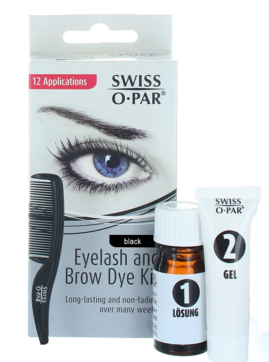 Swiss O Par Eyelash And Eyebrow Dye Kit Black Amazon Beauty