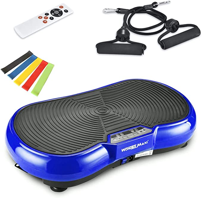 MUCHOO Vibration Plate Fitness Machine Whole Body Workout Platform Machine w//Loop Bands Body Slimmer Weight Loss and Home Training /& Exercise