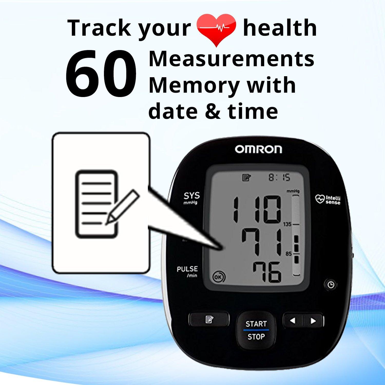 Omron Hem 7270 Blood Pressure Monitor With 60 Measurement Memory