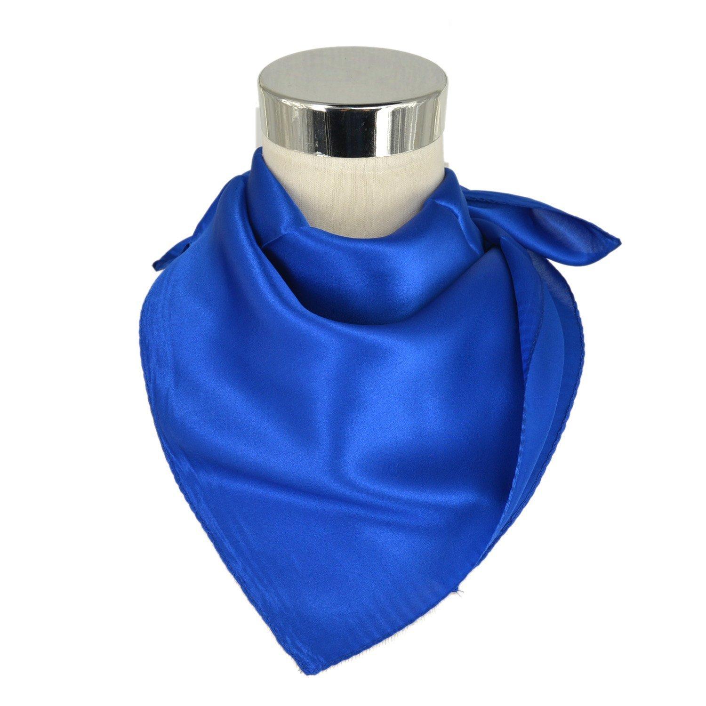 Blu Scuro Unisex Versatile Tinta Unita 100/% Seta di Gelso Lusso Bandana Fazzoletti da Collo Collo Sciarpa Sciarpa Quadrata Sciarpe