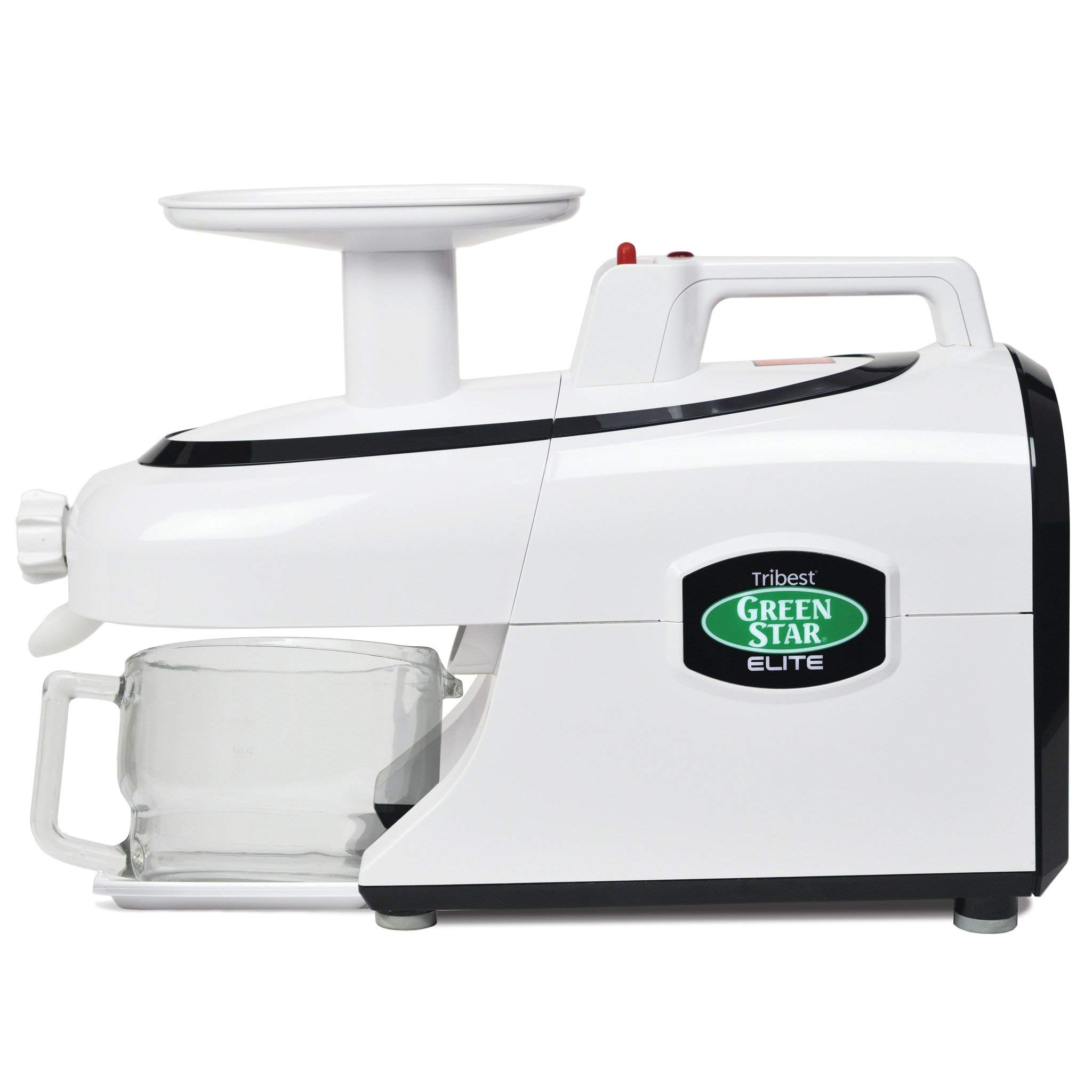 Tribest Greenstar Cold Press Complete Masticating Slow Juicer, Jumbo, White