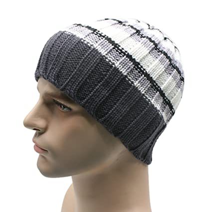 e9a3f11d780 Men Teens Boys Winter Stylish Knit Ski Crochet Slouchy Hat Cap Beanie Hip-