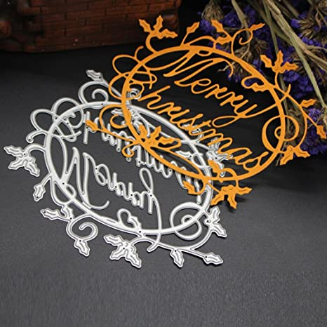 Fabal Merry Christmas Metal Die Cutting Dies for Scrapbooking Photo Album Decorative Embossing Folder Stencil J