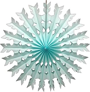product image for 12-Pack 22 Inch Large Tissue Paper Snowflake (Light Blue)